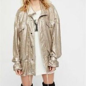 Free People Slouch Sequin Jacket